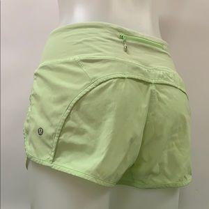 "Lululemon run time 4"" inseam athletic shorts sz 4"